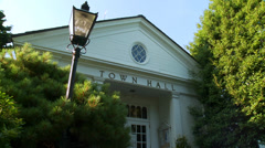 Weston town hall (4 of 5) - stock footage