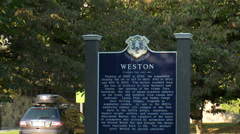 Historical Weston sign  Stock Footage