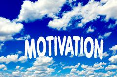 motivation clouds - stock illustration