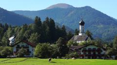 Village jachenau, upper bavaria Stock Footage