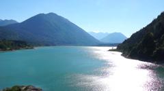sylvenstein reservoir, upper bavaria - stock footage