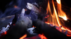 Campfire Fire Flame Fireplace HD - stock footage