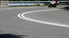 motorcycle in a curve - stock footage