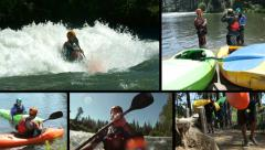 Kayaking, video montage Stock Footage
