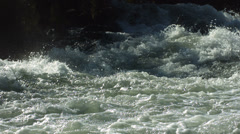 White water river detail, slow motion - stock footage