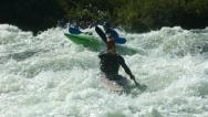 Stock Video Footage of Kayaking in white water, super slow motion