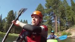 Kayakers, POV camera Stock Footage