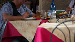 Scenes of a People Eating in Italy (8 of 16) Stock Footage