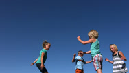 Stock Video Footage of Kids jumping on trampoline, slow motion