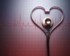 Stethoscope Heart Shape Stock Illustration