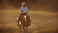 Stock Video Footage of Portrait of cowboy on his horse