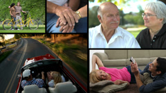 Couples, video montage - stock footage