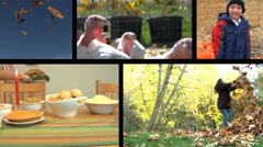 Thanksgiving & Fall Holiday video montage Stock Footage