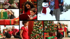 People enjoying the Christmas season, video montage Stock Footage