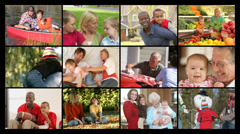 Family, video montage Stock Footage