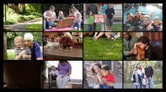 Happy Families, video montage - stock footage