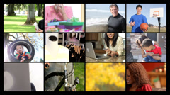Happy people, video montage - stock footage