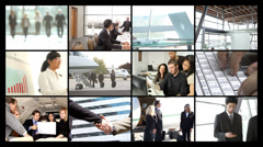 Businesspeople, video montage Stock Footage