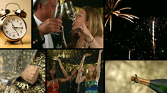 New Years Celebration, video montage - stock footage