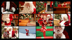 Santa Claus video montage - stock footage