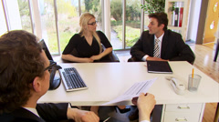 Business team in a meeting sign the contract. High quality HD video footage Stock Footage
