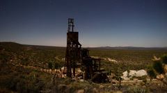Abandon Gold Mine in the Mojave Desert Stock Footage