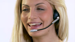 Call centre staff here to help. High quality HD video footage Stock Footage