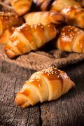 Mini croissant Stock Photos