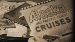 Packing Suitcase For Alaskan Cruise-1940 Vintage 8mm film Stock Footage