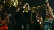Stock Video Footage of New Years party, slow motion