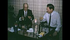 USA 1967: business men drinking in the office Stock Footage