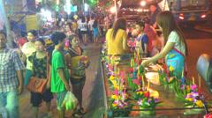Loy Krathong festival, Stock Footage
