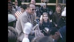 Forth Worth 1969: Apollo 12 astronauts parade - stock footage