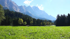 Landscape near garmisch-partenkirchen Stock Footage