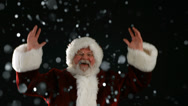 Stock Video Footage of Santa Claus jumping and cheering, slow motion