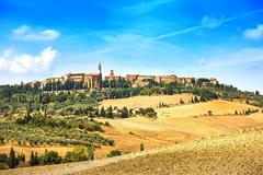 Tuscany, pienza medieval village. siena, val d orcia, italy Stock Photos