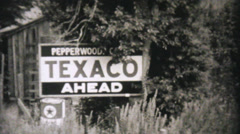 Car Getting Serviced At Texico Station-1940 Vintage 8mm film Stock Footage