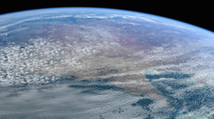 Stock Video Footage of Stationary Orbit over Australia - CG Earth 1080p HD