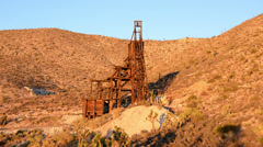 Time Lapse of Abandon Gold Mine at Sunset - 4K Stock Footage