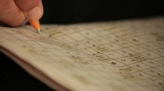 Crossword Stock Footage