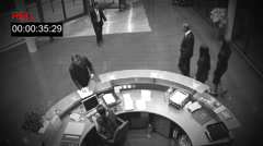 CCTV cameras watch business peoples movement. High quality HD video footage Stock Footage