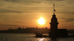 Stock Video Footage of Maiden Tower