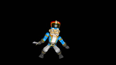 Nutcracker Funny Dancer - VJ Loop + Alpha channel - stock footage