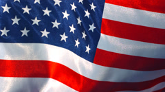 United States flag waving in wind, slow motion - stock footage