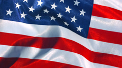 United States flag waving in wind, slow motion Stock Footage