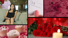 Valentines day video montage Stock Footage