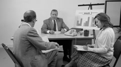 Business meeting, Vintage business Stock Footage