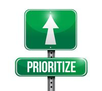 Prioritize road sign illustration design Stock Illustration