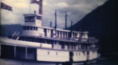 Old Paddlewheel Boat Ferry In Alaska-1940 Vintage 8mm film Stock Footage