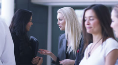 Large group of businessmen and businesswomen in the city. Large open corporate - stock footage